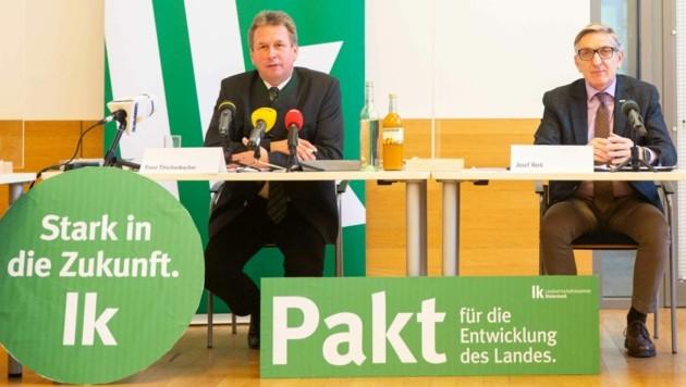 Franz Titschenbacher und Josef Herk (Bild: LK/Alexander Danner)