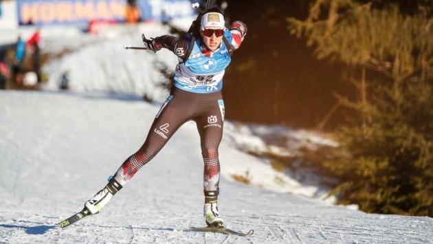 Julia Schwaiger landete im Sprint von Oberhof auf Rang neun. (Bild: GEPA pictures/ Jasmin Walter)