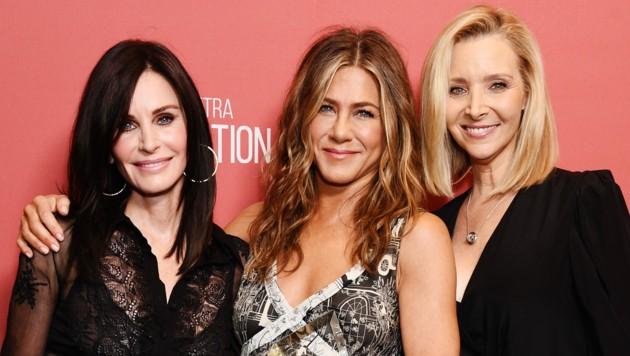 Courteney Cox, Jennifer Aniston und Lisa Kudrow (Bild: Gregg DeGuire/Getty Images for SAG-AFTRA Foundation/AFP)