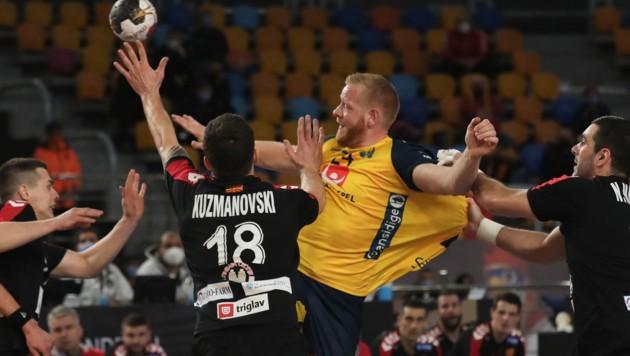 Corona-bedingter Einspringer Nordmazedonien gegen Schweden. (Bild: AFP/Mohamed Abd El Ghany)
