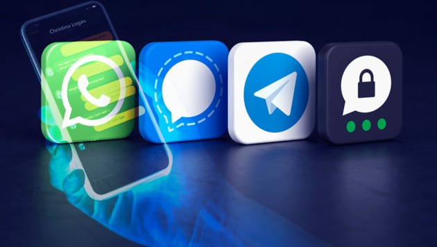 Der Wirbel um die WhatsApp-AGB hat zu einer Nutzerabwanderung in Richtung Signal, Telegram und Threema geführt. (Bild: stock.adobe.com, krone.at-Grafik)