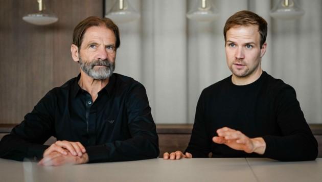 Eingespieltes Team: Hermann Neuburger und Sohn Thomas. (Bild: Markus Wenzel)