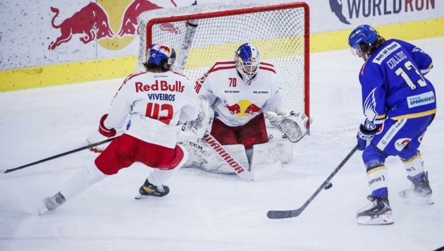 Chris Collins (re.) spielte eine überragende Partie, bezwang Goalie Jesper Eliasson zweimal. (Bild: GEPA pictures/ Jasmin Walter)