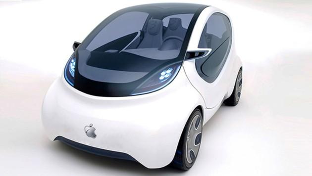 Nur eine Vermutung, wie das iCar aussehen könnte (Bild: ampnet/Yahoo)