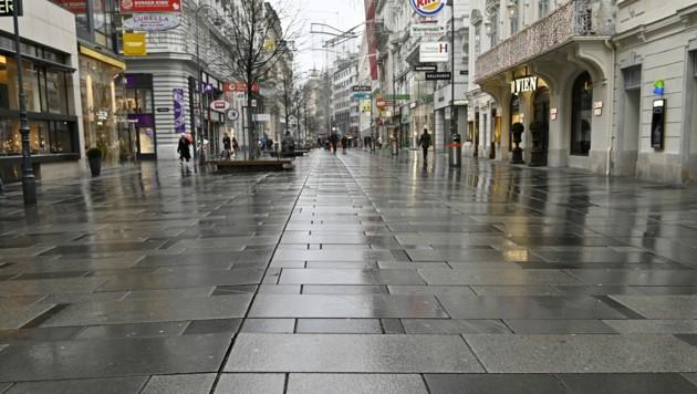 Die Corona-Pandemie zwingt die Österreichischen Händler dazu, geschlossen zu halten. (Bild: APA/HANS PUNZ)