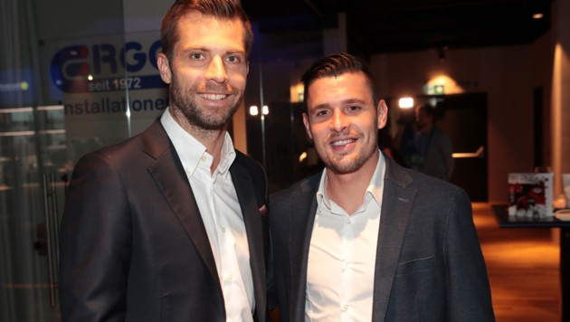 Andreas Ivanschitz (li.) und Salzburg-Kicker Zlatko Junuzovic (Bild: GEPA )