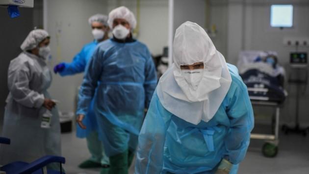 Krise in Portugals Krankenhäusern: Der Zusammenbruch steht wegen der neuen Briten-Mutation kurz bevor. (Bild: AFP or licensors)