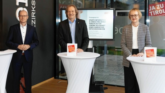 Spartenobleute Mario Eckmaier, Dietmar Hernegger und Sybille Regensberger (v. li) (Bild: Charly Lair)