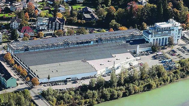 Der Faurecia-Standort in Kennelbach wird aufgelassen. (Bild: Raumplanung/Land Vorarlberg)