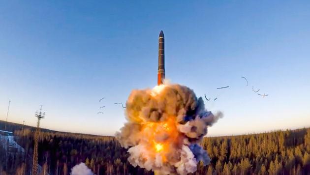 Start einer russischen Interkontinentalrakete (Bild: ASSOCIATED PRESS)