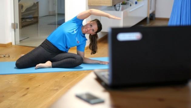 Um fit zu bleiben, bietet die Sportunion Online-Trainings an. (Bild: Patrick J. Bauer)