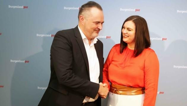 Gegenseitiges Vertrauen: Landeschef Hans Peter Doskozil machte Astrid Eisenkopf zu seiner Stellvertreterin. (Bild: Reinhard Judt)