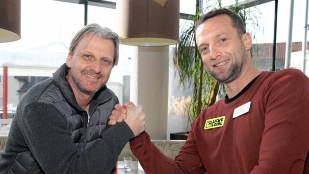 Markus Schopp und Ferdinand Feldhofer (r.) treffen beim Frühjahrsstart aufeinander. (Bild: Hans Oberländer)