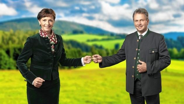 Maria Pein und Franz Titschenbacher (Bild: Bergmann)