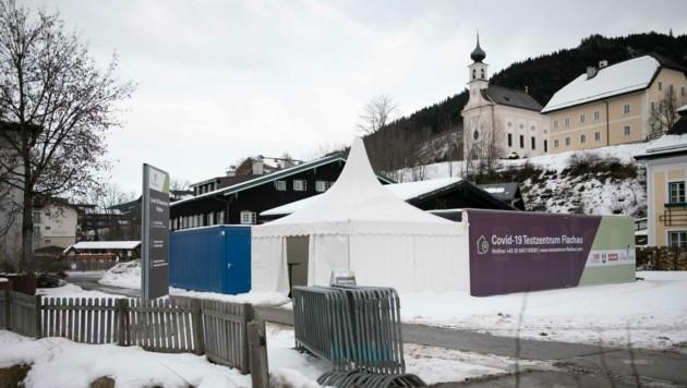Die Teststation in Flachau wird erneut genutzt: diesmal für die Tests am Sonntag. (Bild: Scharinger Daniel)