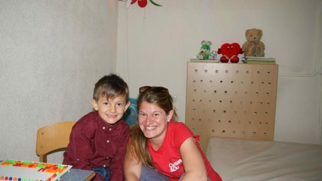 Theresa Sacher, Caritas-Auslandshilfe, im Kosovo (Bild: Caritas)