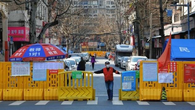 Wuhan am 23. Jänner 2020 (Bild: AFP)
