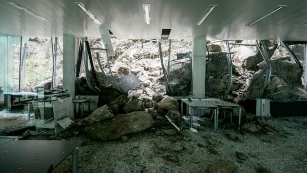 Der Saal wurde schwer zerstört. (Bild: © www.wildbild.at)
