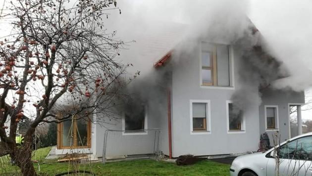 Brand in Hausmannstätten (Bild: FF Hausmannstätten)