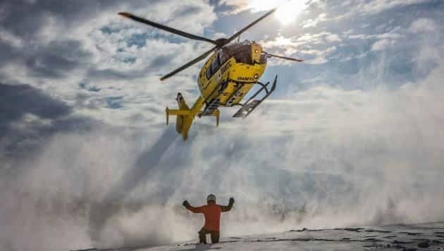 Die Rettungshelis sind in der Skisaison oft im Dauereinsatz. (Bild: CHRISTIAN_POSTL)