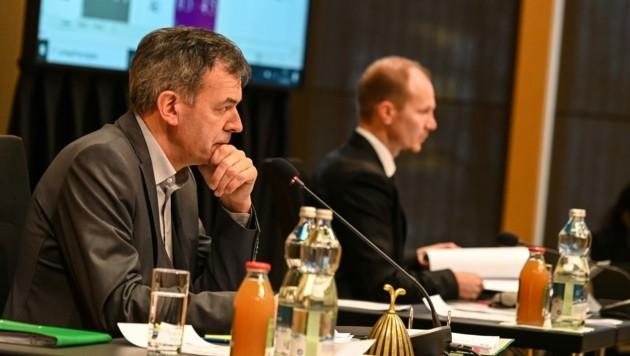 Bürgermeister Georg Willi und 2. Vize Johannes Anzengruber: Bald Kontrahenten bei Wahl? (Bild: LIEBL Daniel   zeitungsfoto.at)