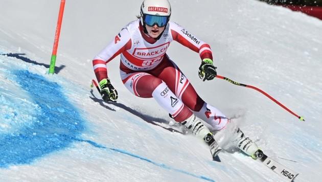 Auf dem Weg zu ersten Weltcuppunkten im Super G: Lisa Grill in Crans Montana. (Bild: FABRICE COFFRINI)