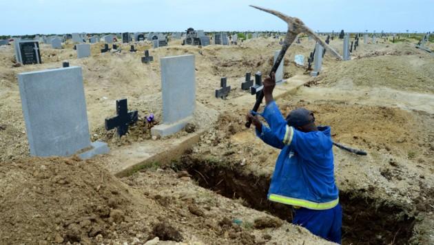 Im südlichen Afrika haben Totengräber aufgrund der Mutation leider viel zu tun. (Bild: AP)