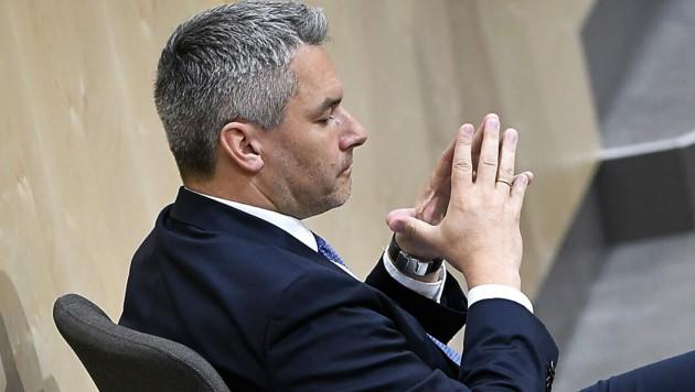 Innenminister Karl Nehammer (ÖVP) (Bild: APA/ROBERT JAEGER)