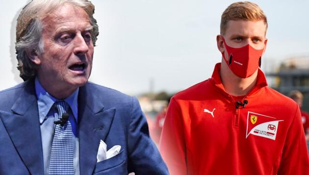 Luca di Montezemolo und Mick Schumacher (Bild: AFP, krone.at-grafik)