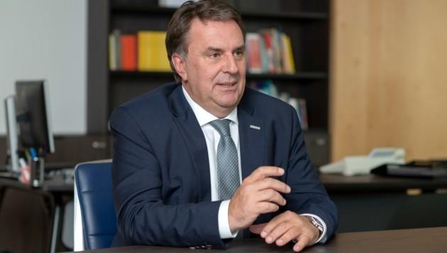 WKNÖ-Präsident Wolfgang Ecker tritt für Betriebsöffnungen ein. (Bild: Franz Baldauf)