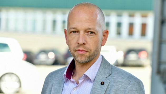 Thomas Kutsam ist Betriebsratschef der Angestellten bei MAN in Steyr. (Bild: Harald Dostal)