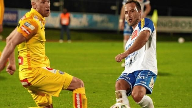 Tobias Kainz (r.) verlängerte in Hartberg für drei weitere Jahre (Bild: Sepp Pail)