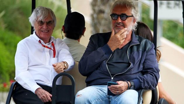 Bernie Ecclestone (li.) und Flavio Briatore (Bild: GEPA )