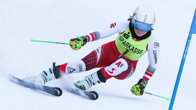 Beim Riesentorlauf in Gaal (St) feierte die erst 16-jährige Bregenzerwälderin Victoria Olivier ihren Premierensieg auf FIS-Ebene. (Bild: RoRo)