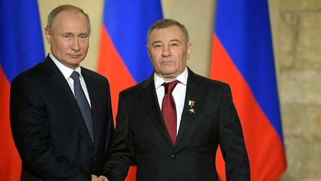 Wladimir Putin und Arkadi Rotenberg kennen sich schon lange. (Bild: kremlin.ru)