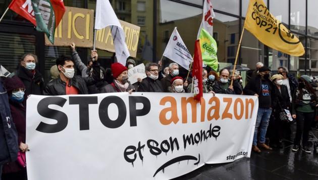 Proteste in Perpignan (Bild: APA/AFP/RAYMOND ROIG)