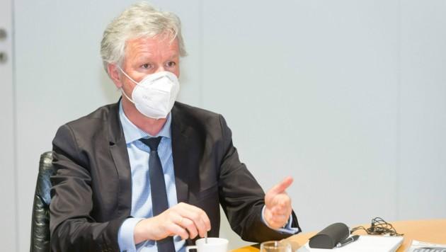Gerald Fleisch ist seit 2004 Geschäftsführer der Vorarlberger Krankenhaus-Betriebsgesellschaft mbH. (Bild: Mathis Fotografie)