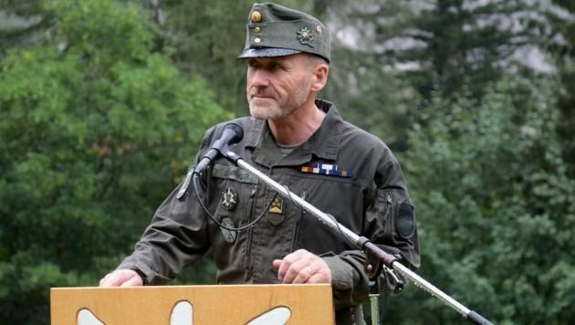Johann Gaiswinkler, Kommandant der 6. Gebirgsbrigade, mittlerweile Brigadier (Bild: Bundesheer / Martin Hoerl)