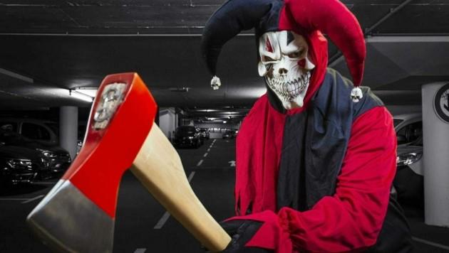 """Bei """"Pranks"""" (Scherzen) sind oft Masken im Spiel, selten Waffen. (Bild: www.viennareport.at)"""