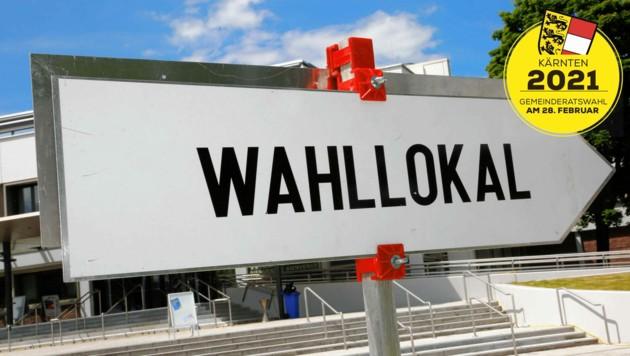 Wegen der Corona-Pandemie gibt es in Kärnten erstmals auch Outdoor-Wahlkabinen. (Bild: Uta Rojsek-Wiedergut)