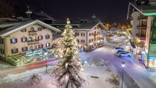 Die Tore des 4-Sterne-Hotels Neue Post in Mayrhofen bleiben in diesem Winter zu. Am 28. Mai wird in die Sommersaison gestartet. (Bild: Tom Klocker)