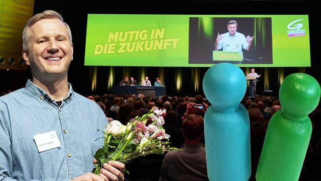 Wiens Interims-Parteichef Peter Kristöfel kritisiert das Vorgehen der ÖVP, will aber die Koalition auf Bundesebene nicht sprengen. (Bild: Krone KREATIV, APA)