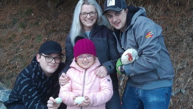 Große Überraschung für die Familie Wimmer (Bild: Sandra Wallner)