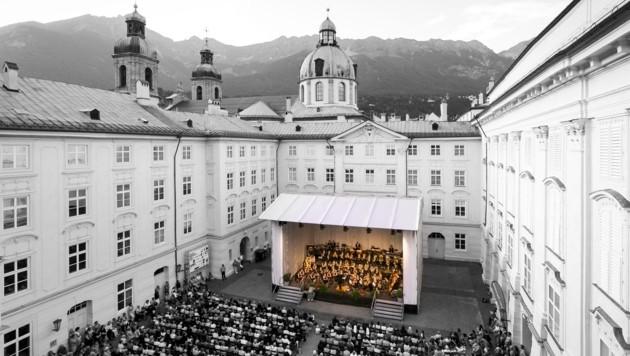 Sofern es Corona zulässt, sollen heuer die Promenadenkonzerte in der Hofburg stattfinden. (Bild: Innsbrucker Promenadenkonzerte)
