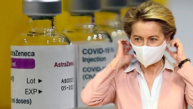 EU-Kommissionschefin Ursula von der Leyen (Bild: AP, AFP, Krone KREATIV)