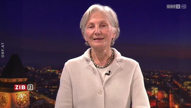 """Irmgard Griss in der """"ZiB 2"""" des ORF (Bild: ORF)"""