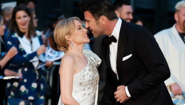 Kylie Minogue und Paul Solomons (Bild: Joanne Davidson / Camera Press / picturedesk.com)