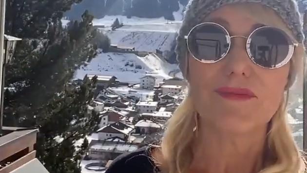 """""""Sperrt's uns doch ein, dann machen wir alles auf"""", lässt eine Tiroler Hotel-Inhaberin die Internet-Gemeinde wissen. (Bild: Screenshot: Social Media)"""