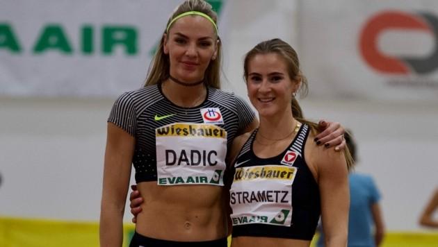 Ivona Dadic mit Sprinterin Karin Strametz (Bild: Glavas Management)