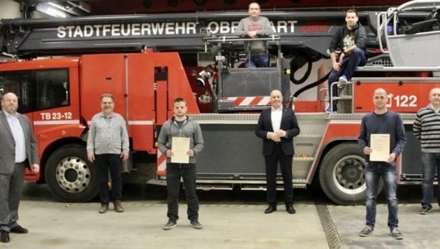"""""""Danke ans tolle Team"""", hieß es nach der Wahl in Oberwart (Bild: Schulter Christian)"""